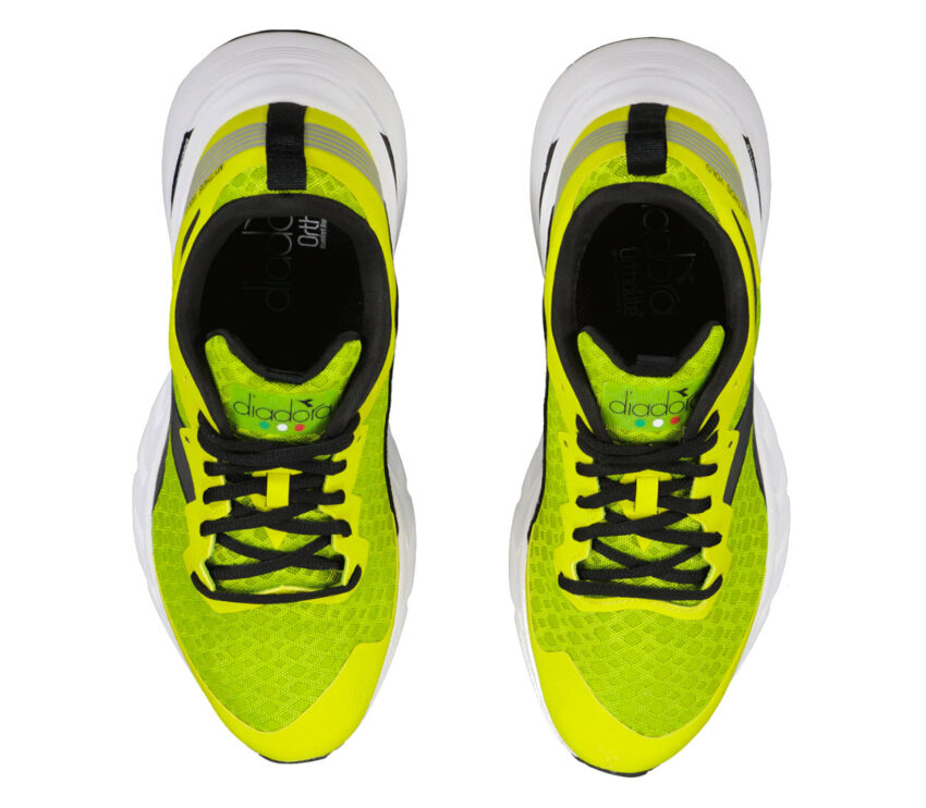 tomaia scarpe da running neutre uomo diadora blushield volo fluo