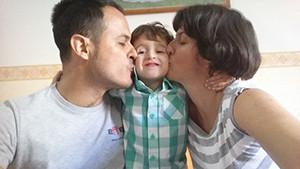 genitori e figlio