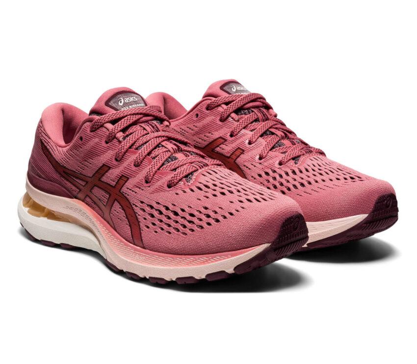coppia scarpe da running donna asics gel kayano 28 rosa