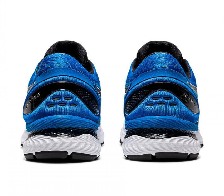 retro coppia di scarpe da running uomo asics gel nimbus 22 blu