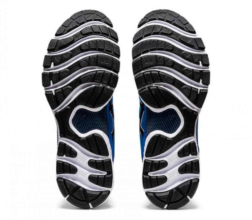 suola coppia di scarpe da running uomo asics gel nimbus 22 blu