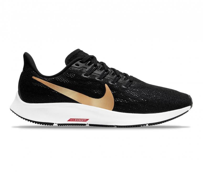 nike zoom pegasus 36 scarpa da running donna nero e oro 008