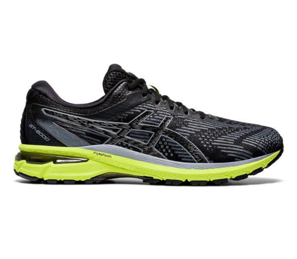 scarpa da running uomo pronazione asics gt 200 8 nero e fluo