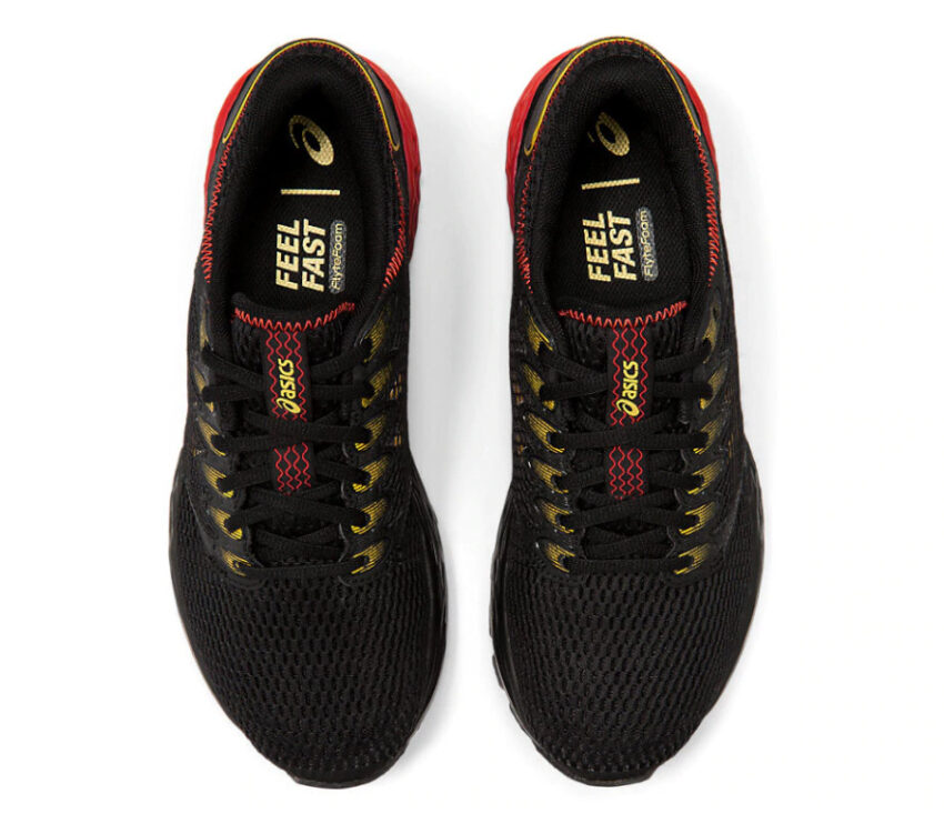 tomaia scarpa running uomo asics roadhawk ff2 nere e rosso