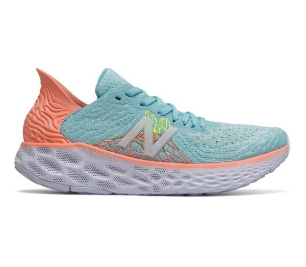 scarpa running donna new balance 1080 v 10 colore celeste chiaro e arancione