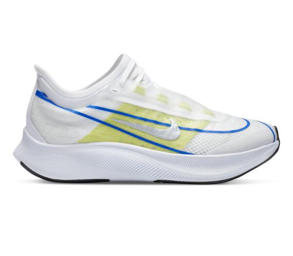 scarpe da running nike zoom fly 3 donna bianche e fluo