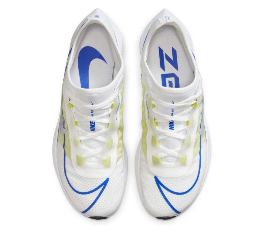 tomaia scarpe da running nike zoom fly 3 donna bianche e fluo
