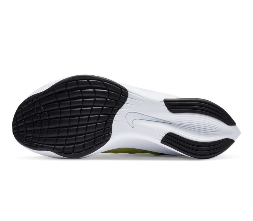 suola scarpe da running nike zoom fly 3 donna bianche e fluo