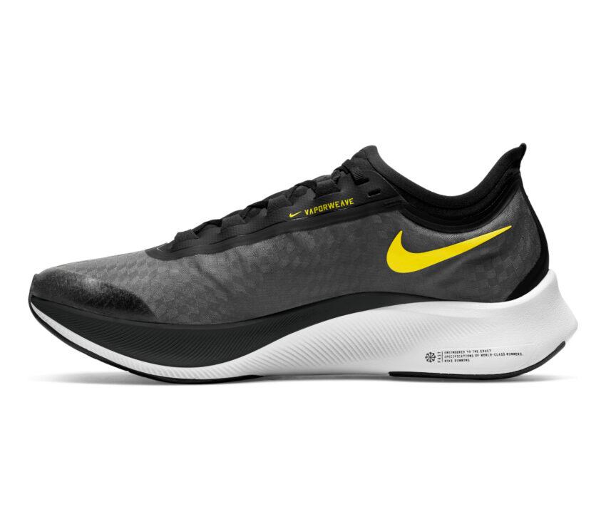 scarpa da running nike zoom fly 3 uomo gialla e nera