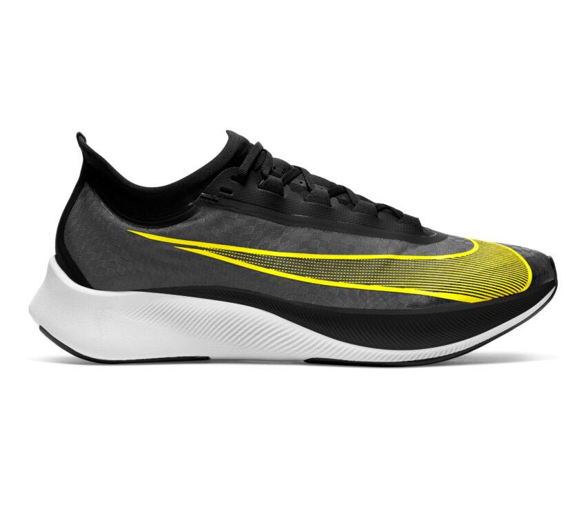 scarpa da running uomo zoom fly 3 giallo e nera