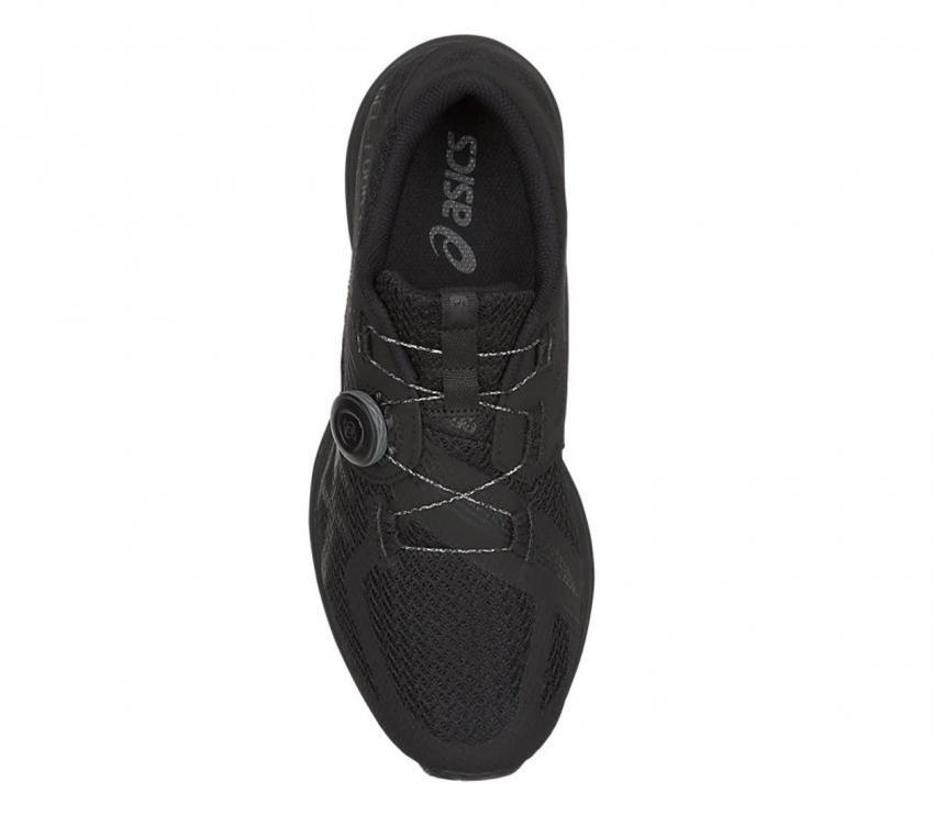 scarpa triathlon uomo asics gel 451 nera vista dall'alto