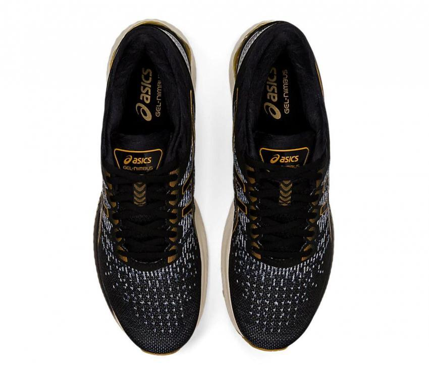 scarpe running uomo asics gel nimbus 22 knit viste dall'alto