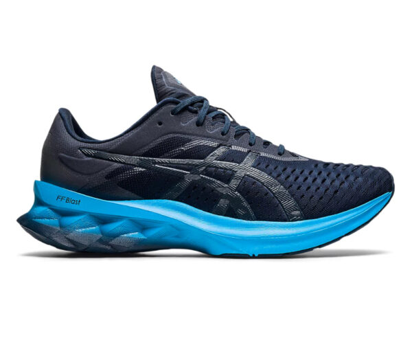 scarpa running uomo asics novablast blu