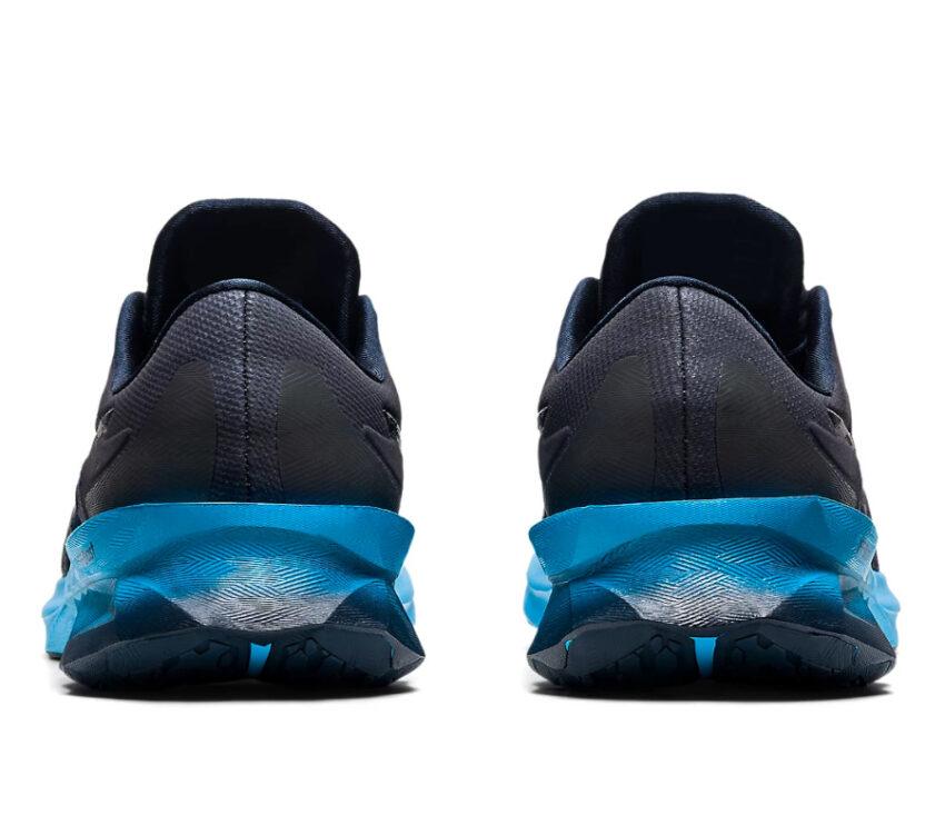 retro scarpe running uomo asics novablast blu