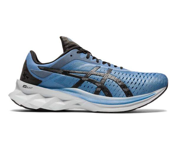 scarpa running asics novablast uomo blu