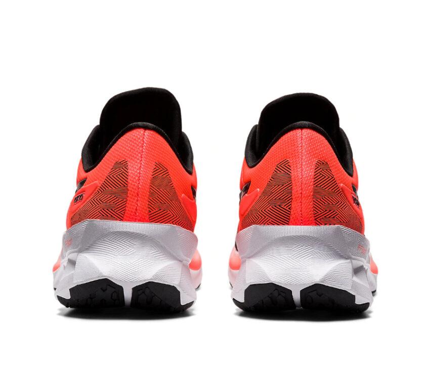 tallone scarpa da running da uomo asics novablast rossa colorazione tokyo
