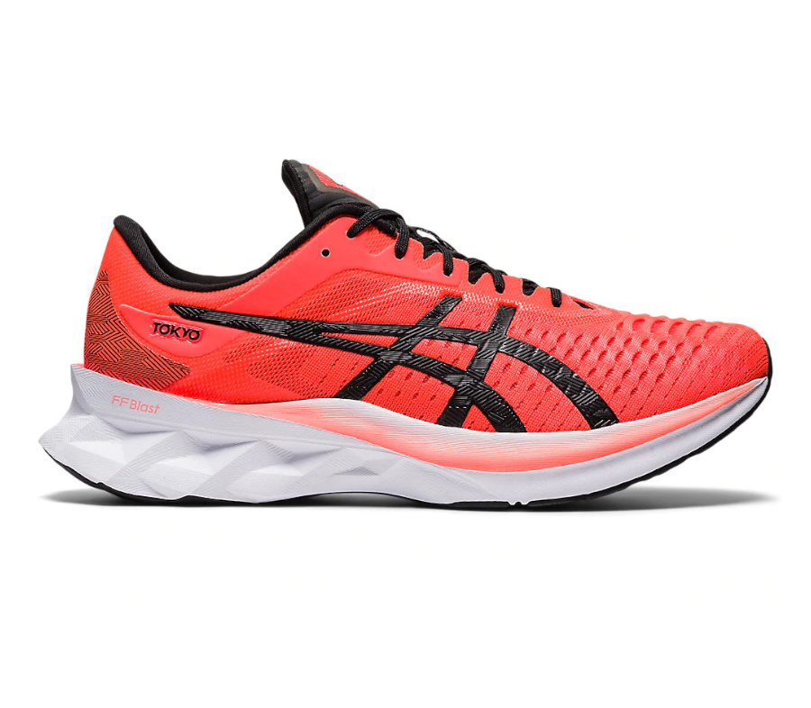 scarpa da running da uomo asics novablast rossa colorazione tokyo