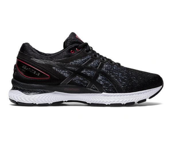 scarpa running uomo asics gel nimbus 22 knit nera 002