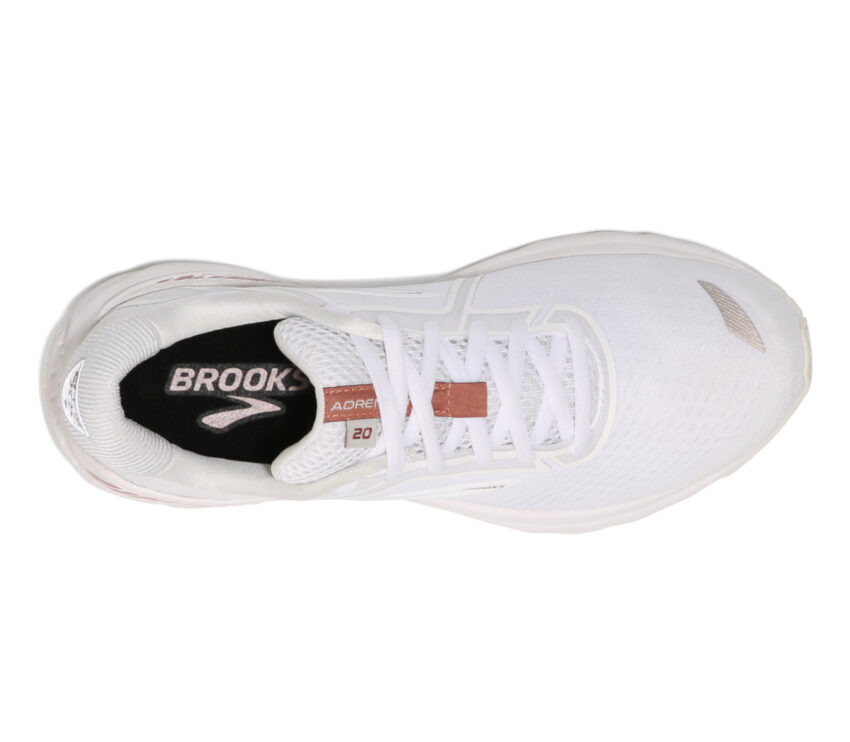 scarpa running da uomo brooks adrenaline its 20 173 Bianca vista dall'alto