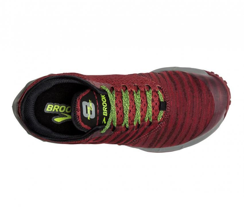 brooks puregrit 8 scarpe trail running uomo vista da sopra