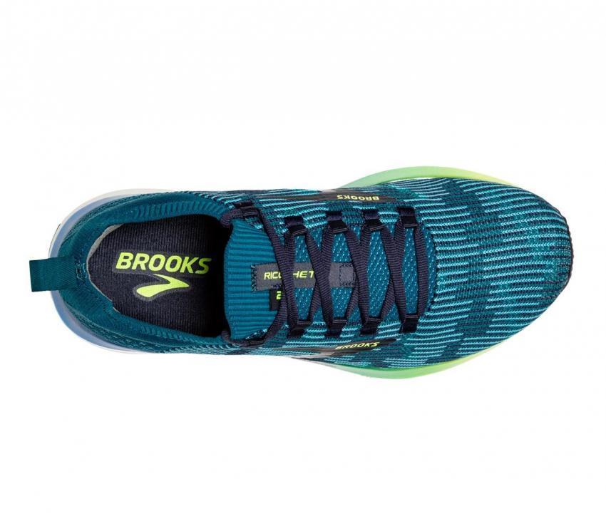 brooks ricochet 2 scarpa running uomo vista dall'alto
