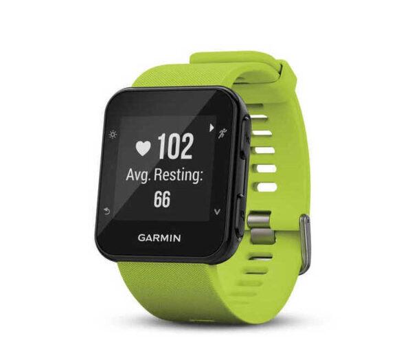 orologio cardiofrequenzimetro running garmin forerunner 35 verde