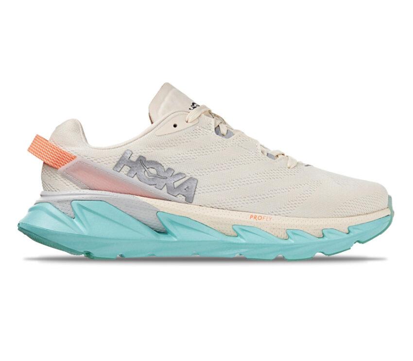 scarpa da running hoka elevon 2 donna bianca e azzurra