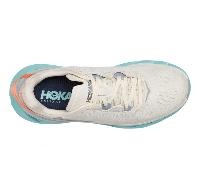 tomaia scarpa da running hoka elevon 2 donna bianca e azzurra