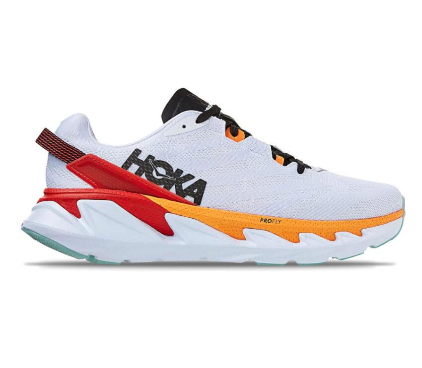scarpa da running hoka elevon 2 uomo bianca e arancione