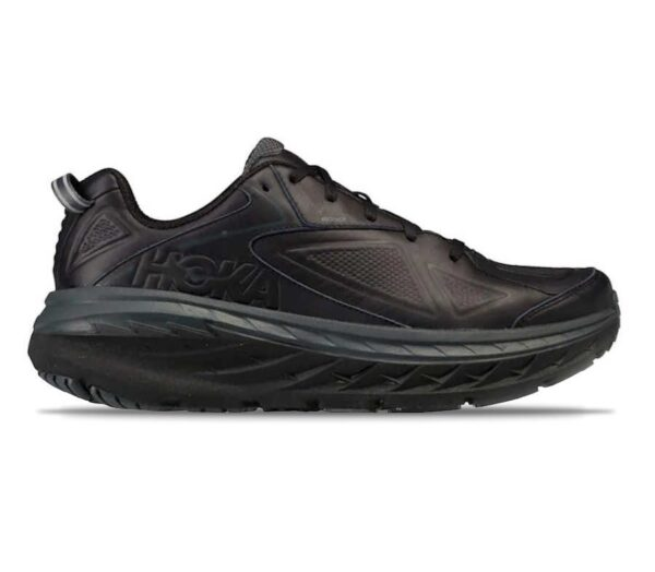 hoka one one bondi 6 ltr scarpa running uomo in pelle nera