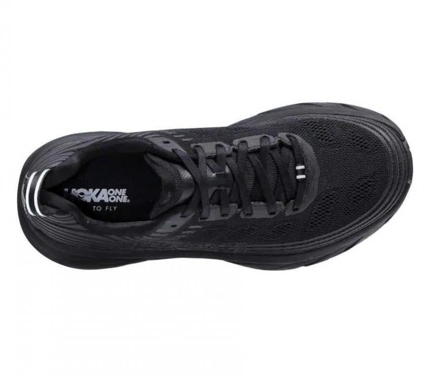 hoka one one bondi 6 wide 2e scarpa running uomo pianta larga vista dall'alto