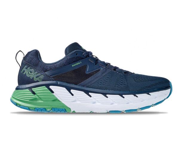scarpe da running hoka gaviota 2 blu e verde uomo