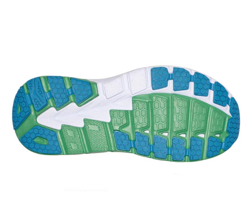 suola scarpe da running hoka gaviota 2 blu e verde uomo
