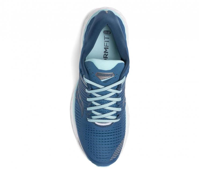 saucony triumph 17 scarpa running donna vista dall'alto