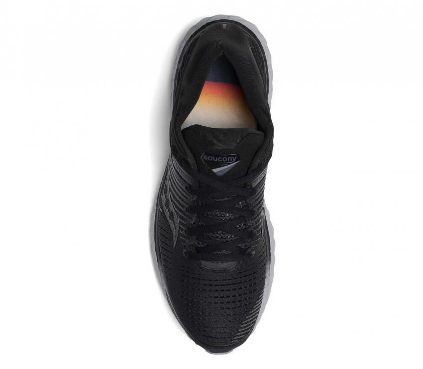 saucony triumph 17 scarpa running donna nera vista dall'alto