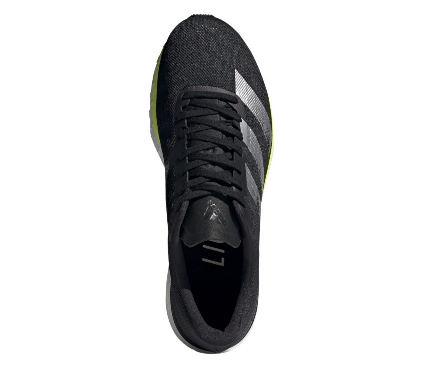 scarpa da pista adidas adizero adios 5 nera vista dall'alto