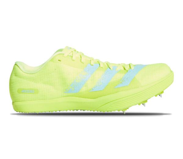 scarpa da salto in lungo adidas adizero lj giallo fluo