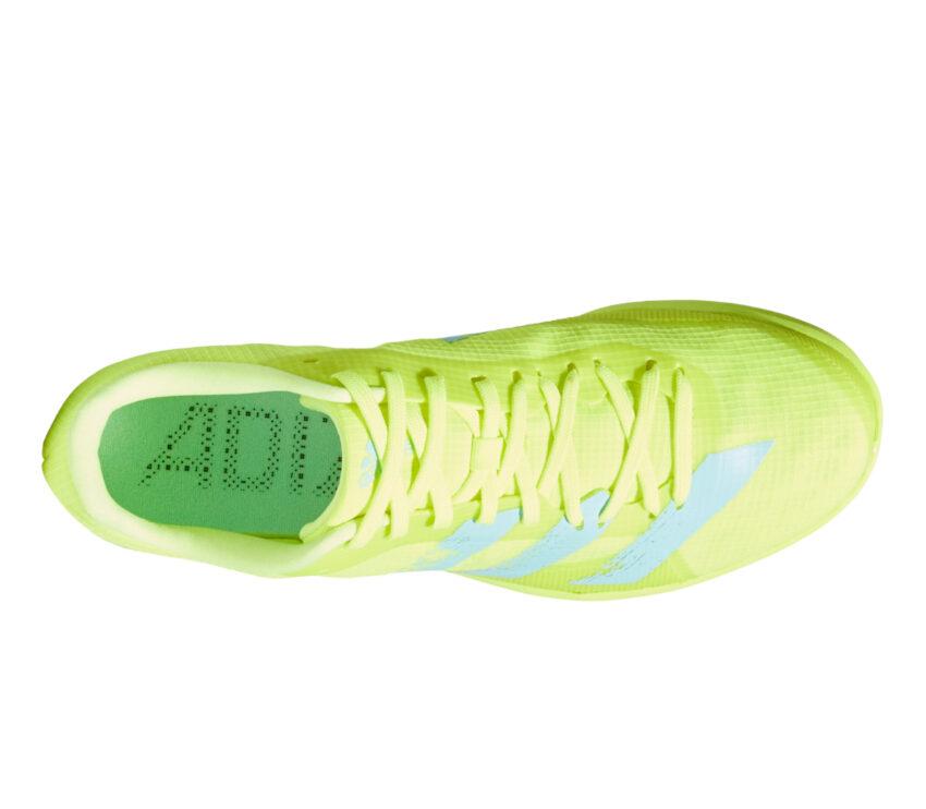 tomaia scarpa da salto in lungo adidas adizero lj giallo fluo