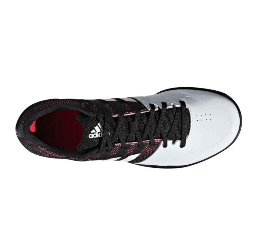 scarpa da salto in lungo adidas adizero lj nero e bianco