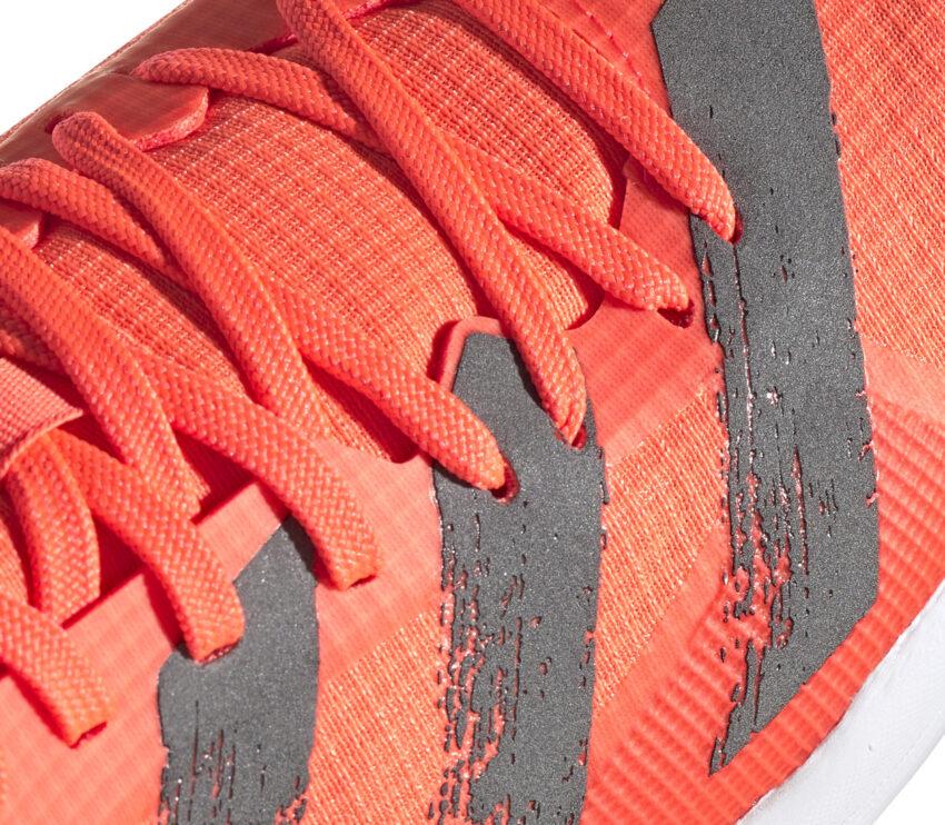 Scarpe salto in lungo adidas adizero lj arancione dettaglio