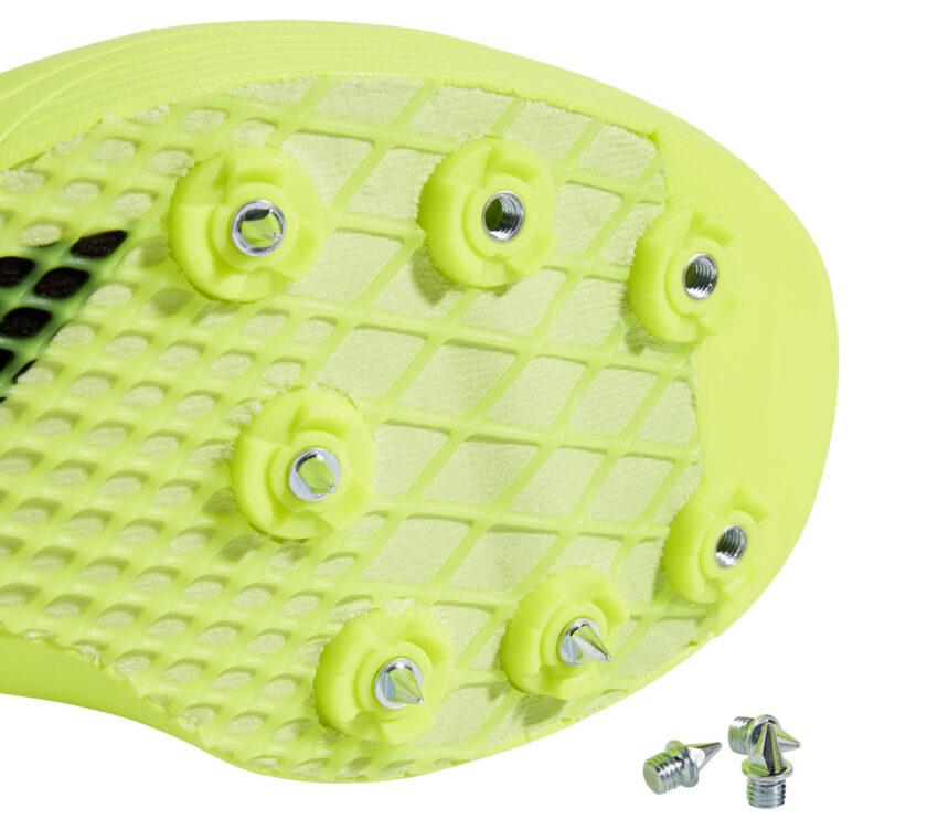 Adidas adizero lj gialla dettaglio suola e chiodini