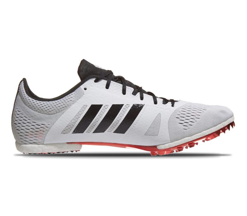 scarpa da mezzofondo unisex adidas adizero md bianca e rossa
