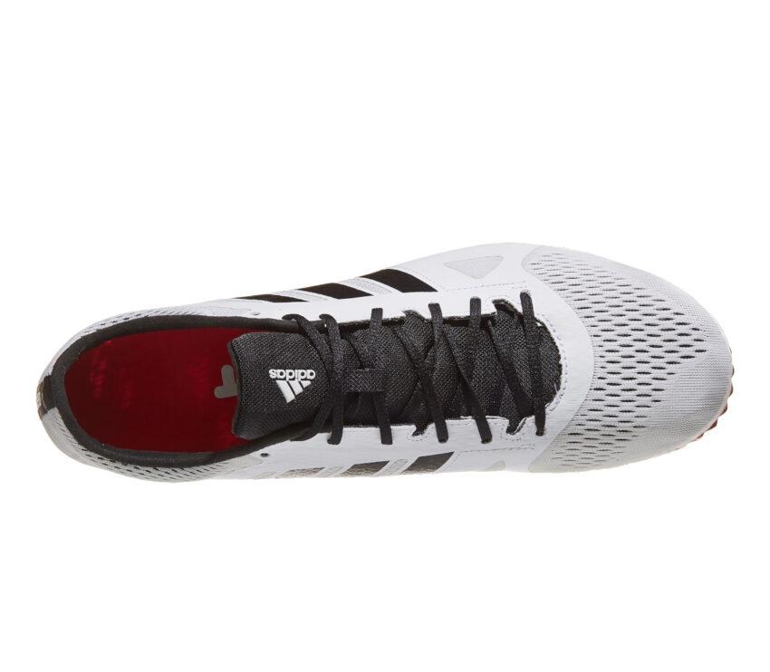tomaia mesh scarpa da mezzofondo unisex adidas adizero md bianca e rossa