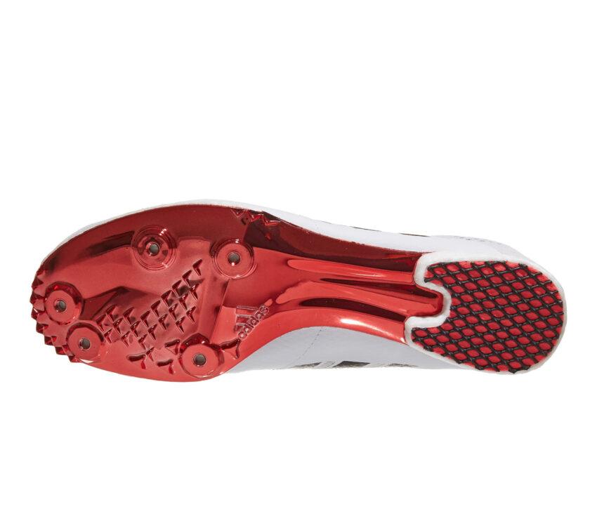 suola scarpa da mezzofondo unisex adidas adizero md bianca e rossa