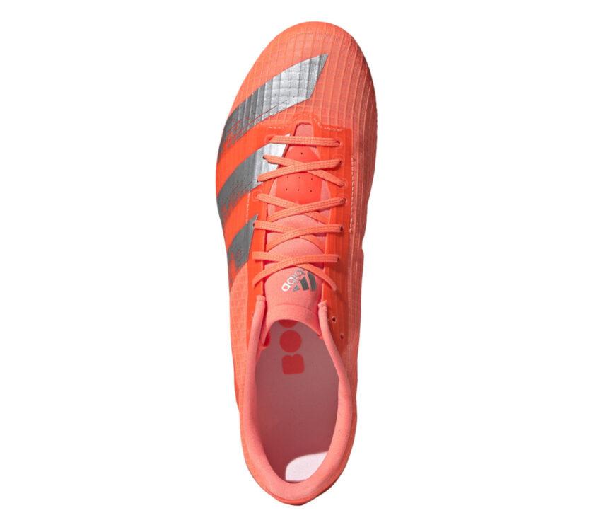 scarpa da pista mezzofondo adidas md rossa