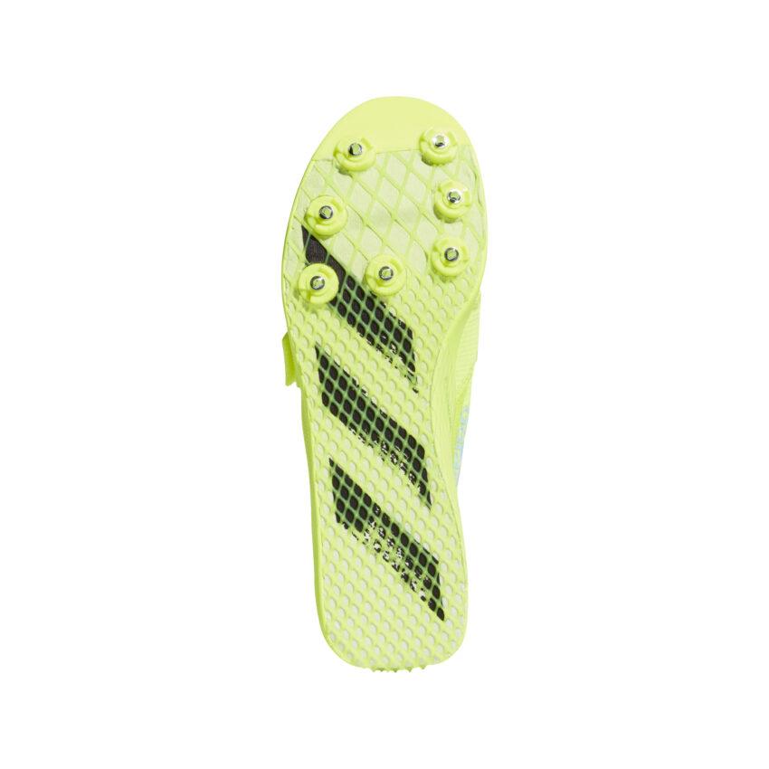 suola scarpa di atletica da pista adidas adizero tj/pv unisex gialla