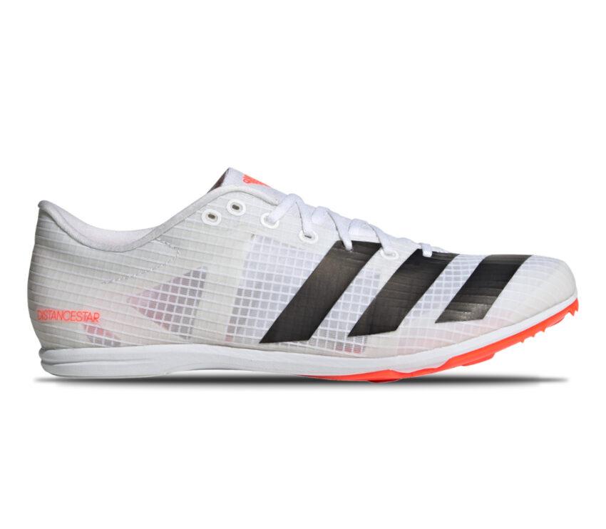 scarpa pista unisex adidas distancestar bianca