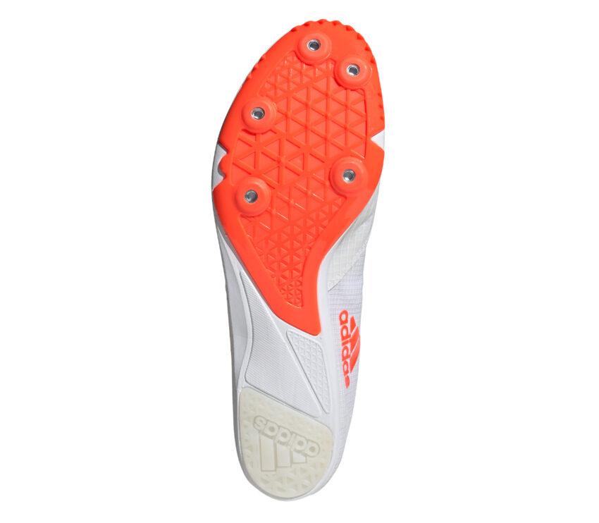 suola chiodata scarpa pista unisex adidas distancestar bianca