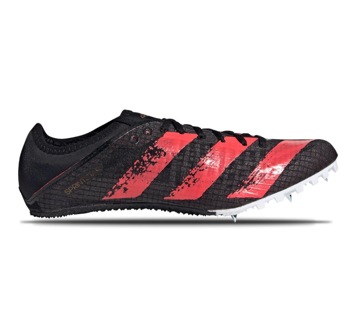 scarpe da atletica uomo adidas sprintstar nere e rosse