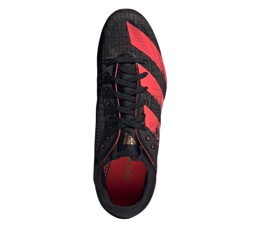 tomaia scarpe da atletica uomo adidas sprintstar nere e rosse